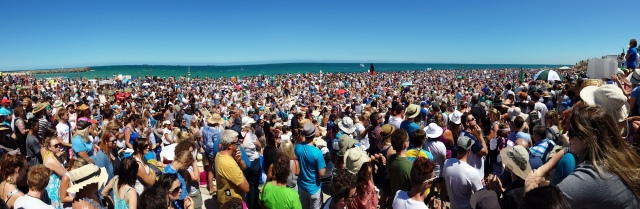 More than 6000 people protested at Cottesloe Beach